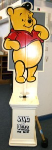Test your strength game in the shape of Winnie the Pooh