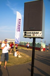 PA1 in use at outdoor athletics meet.