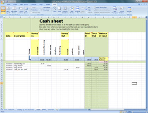 thumbnail screenshot of Cash page